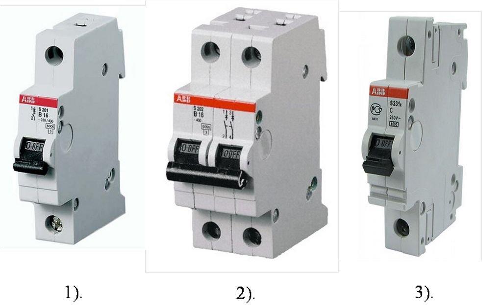 разные автоматические выключатели