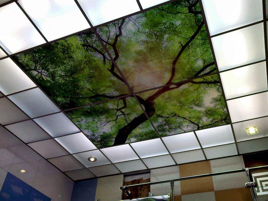 Эффектный подвесной потолок