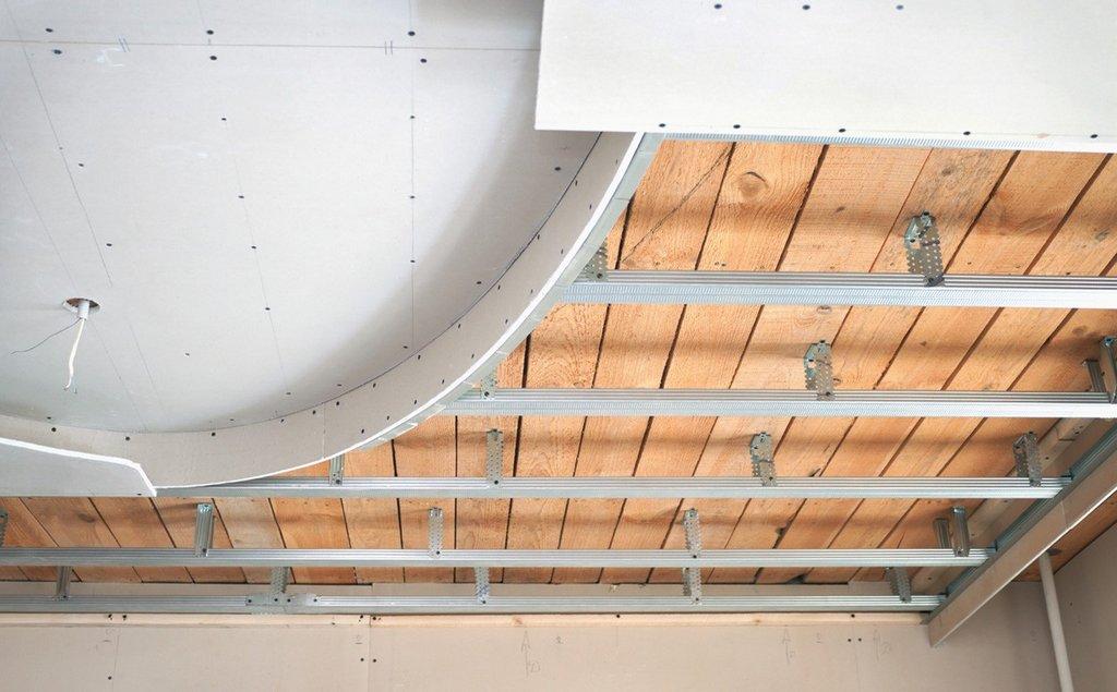 Короб из гипсокартона под многоуровневый натяжной потолок