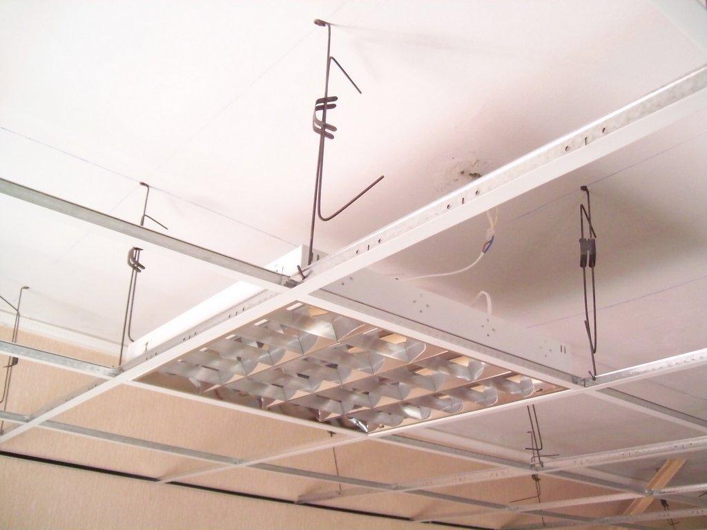 Расчет материалов для подвесного потолка