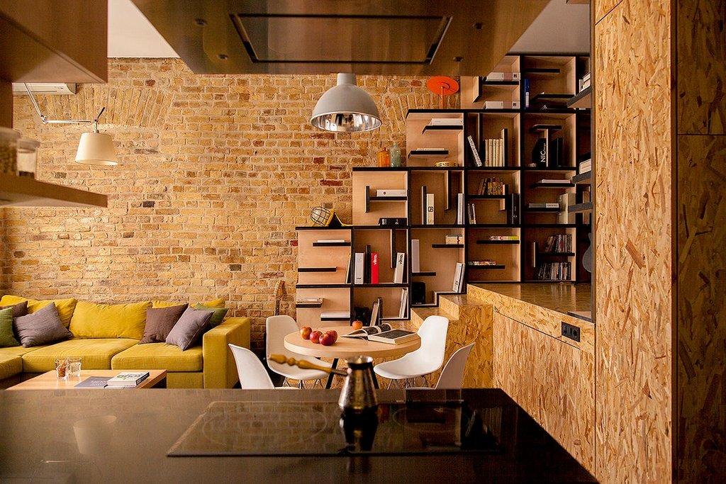 Плиты ОСБ в дизайне интерьера