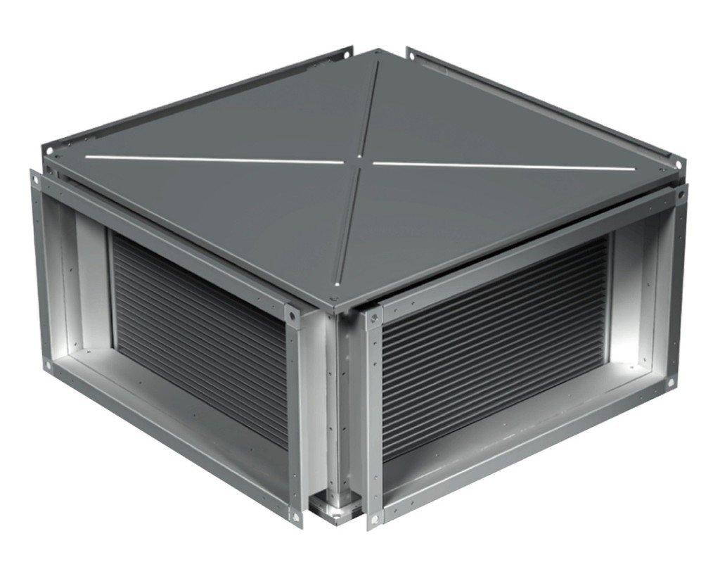 Пластинчатый рекуператор с металлическим корпусом