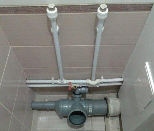 собранная система канализации