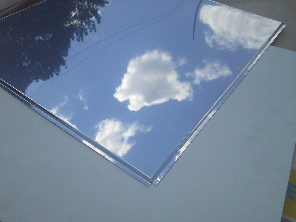Зеркальная плита с кромкой