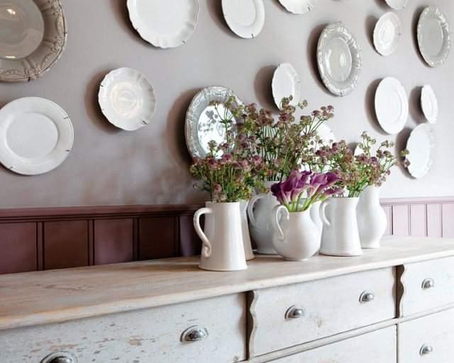 Декор с использованием старых тарелок