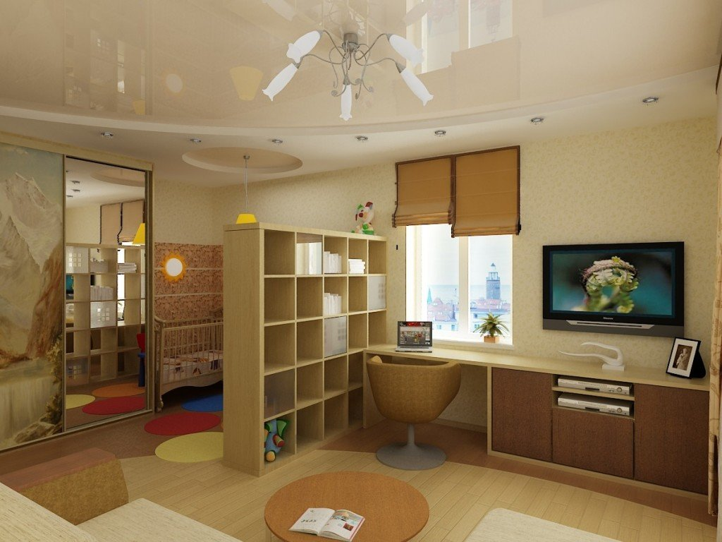 Разделение комнаты на две зоны (фото)