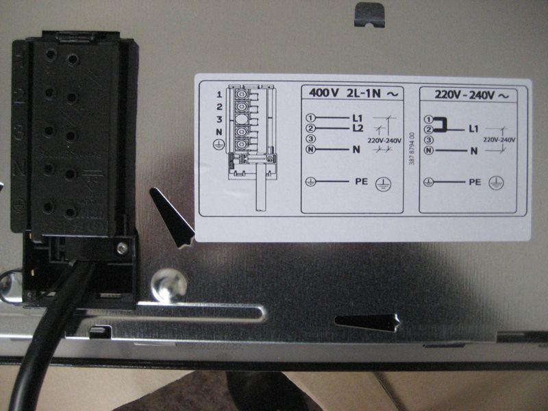 электрическая схема на корпусе устройства