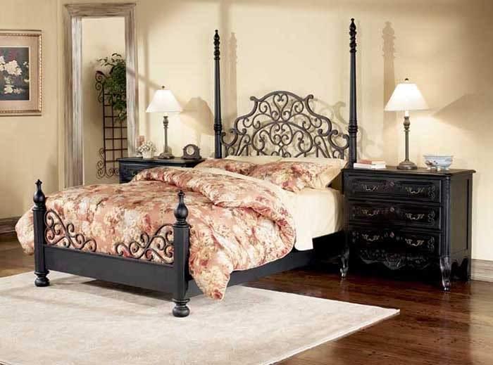 Кованая кровать в прованском стиле
