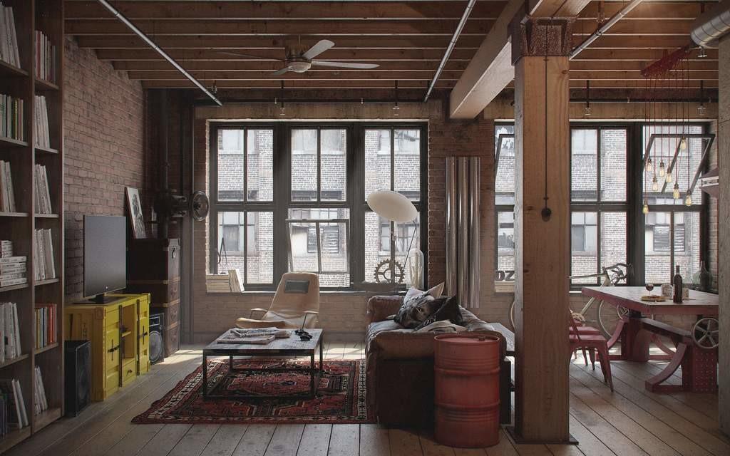 Loft в современной квартире