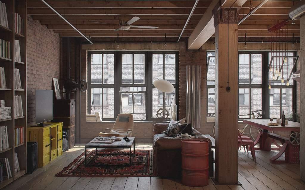 Лофт в современной квартире