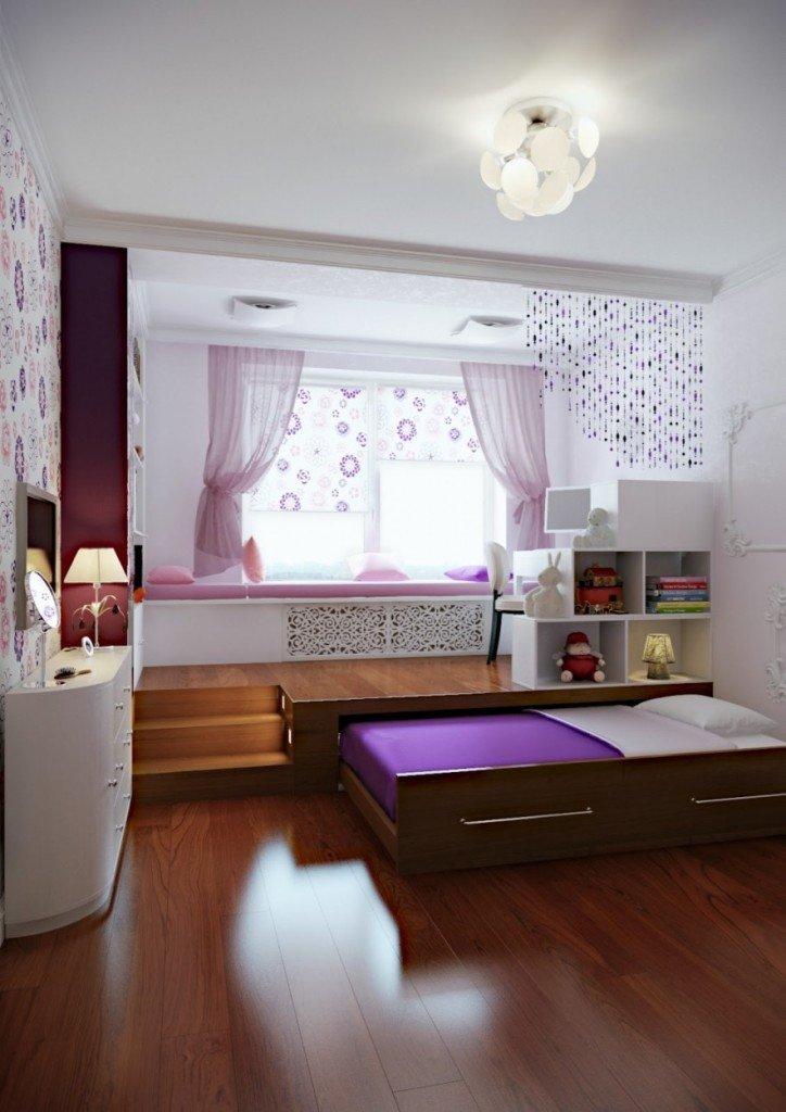 Многофункциональный подиум и двухуровневый потолок