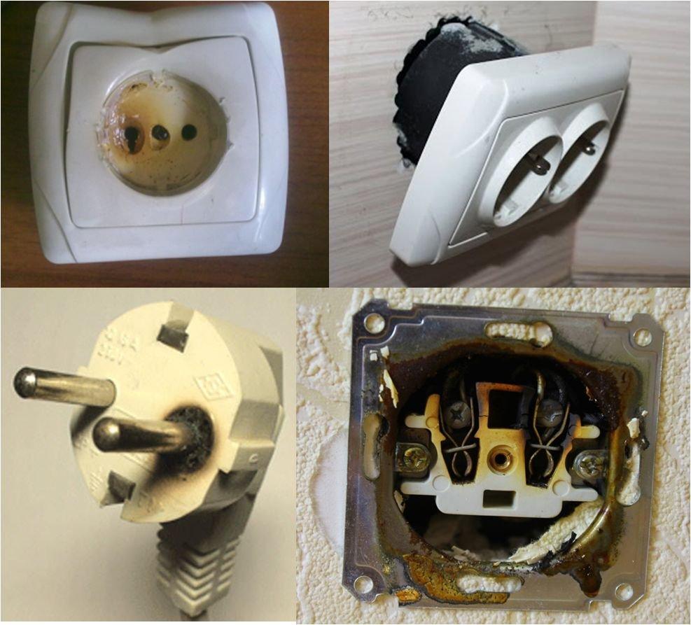 отгорание электрических контактов