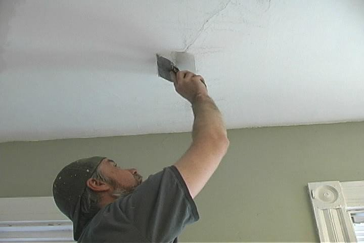 Трещины на потолке из гипсокартона что делать