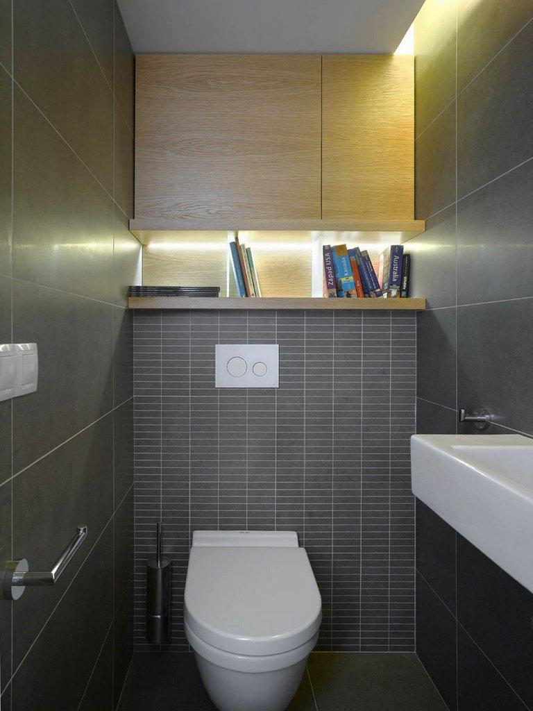 Правильное освещение маленького туалета