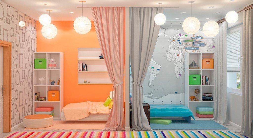 Разделение комнаты для разнополых детей