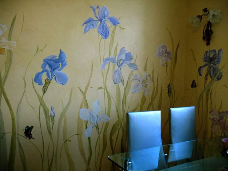 Роспись на стене кухни своими руками