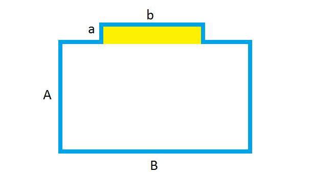 Схема комнаты с нишей