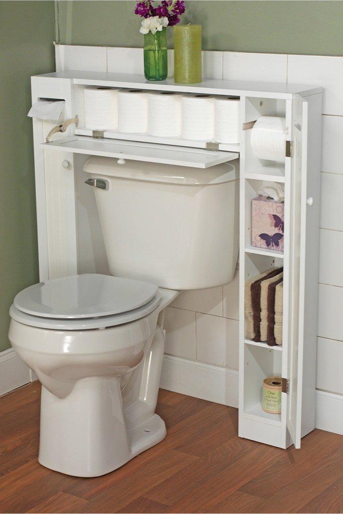 Система хранения в маленьком туалете
