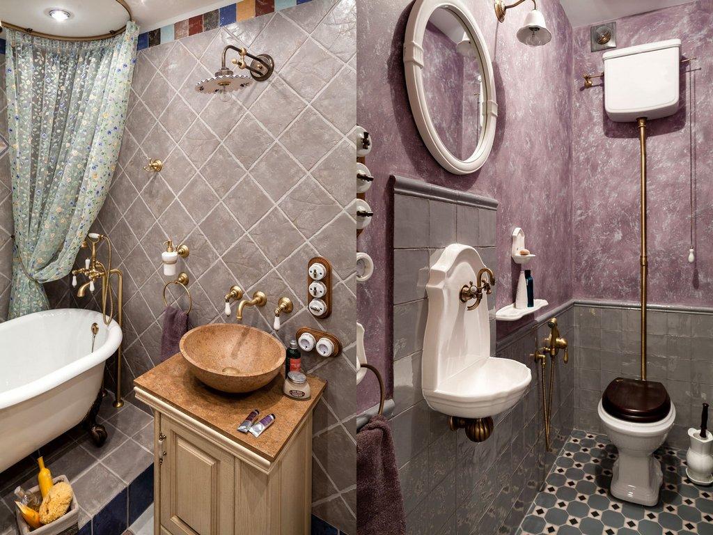 Туалет и ванная в стиле прованс