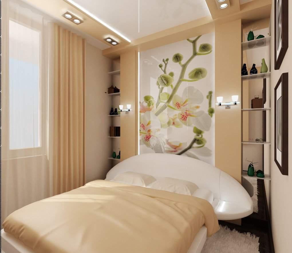 Цветовая гамма крохотной спальни