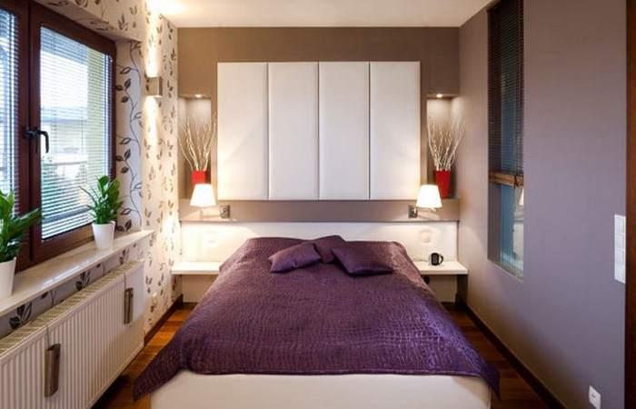 Эргономичный дизайн небольшой спальни