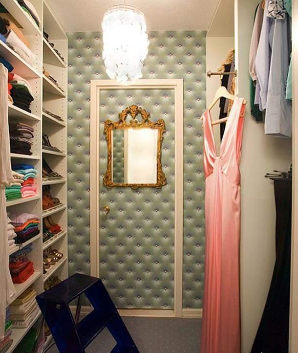 Гардеробная комната дизайн с зеркалом