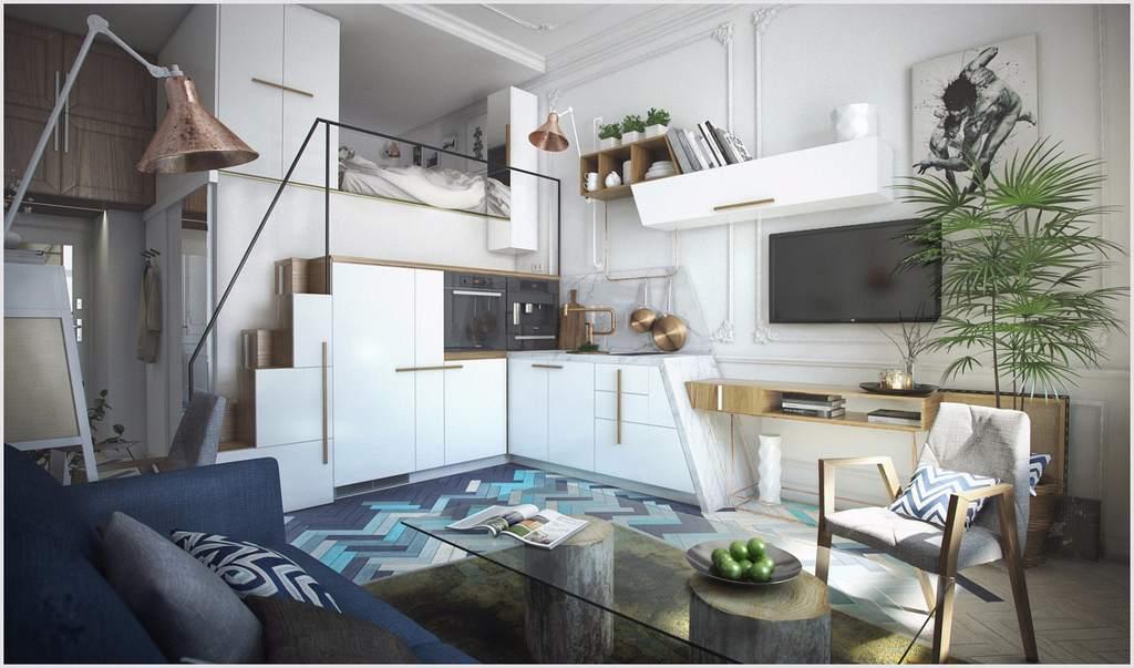 Используем высокие потолки в маленькой квартире