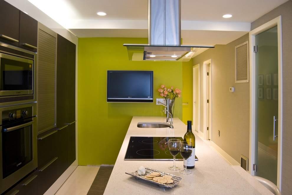 Матовая краска на стенах кухни