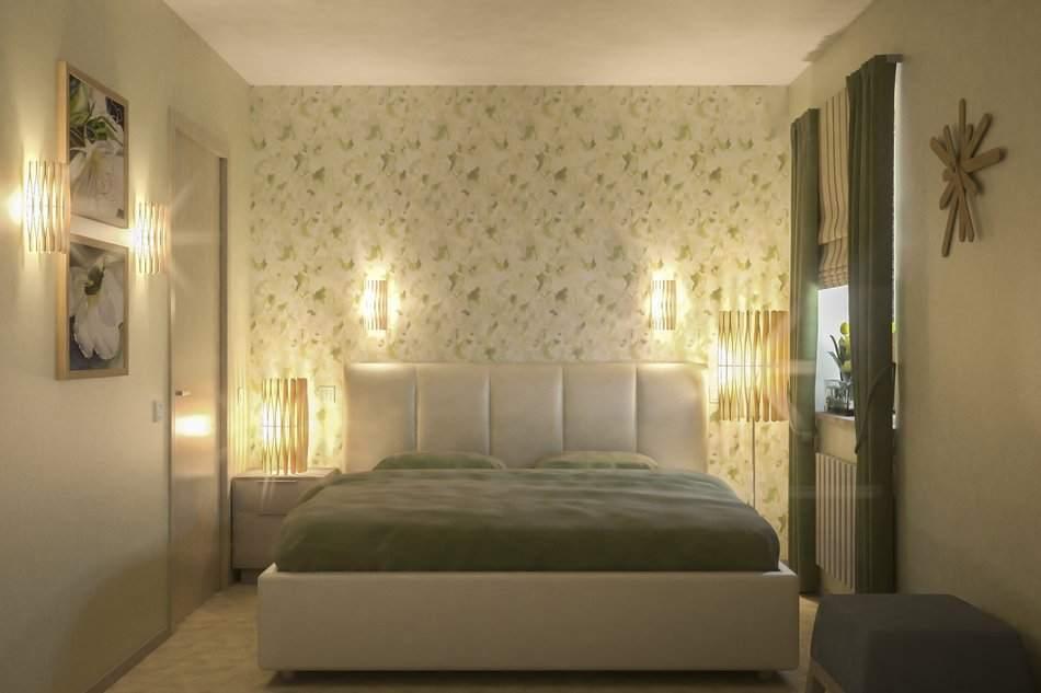 Мягкое освещение спальной комнаты
