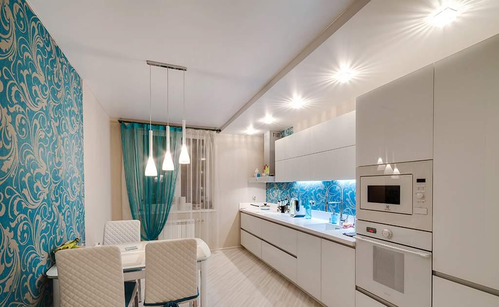Выбираем натяжной потолок на кухню