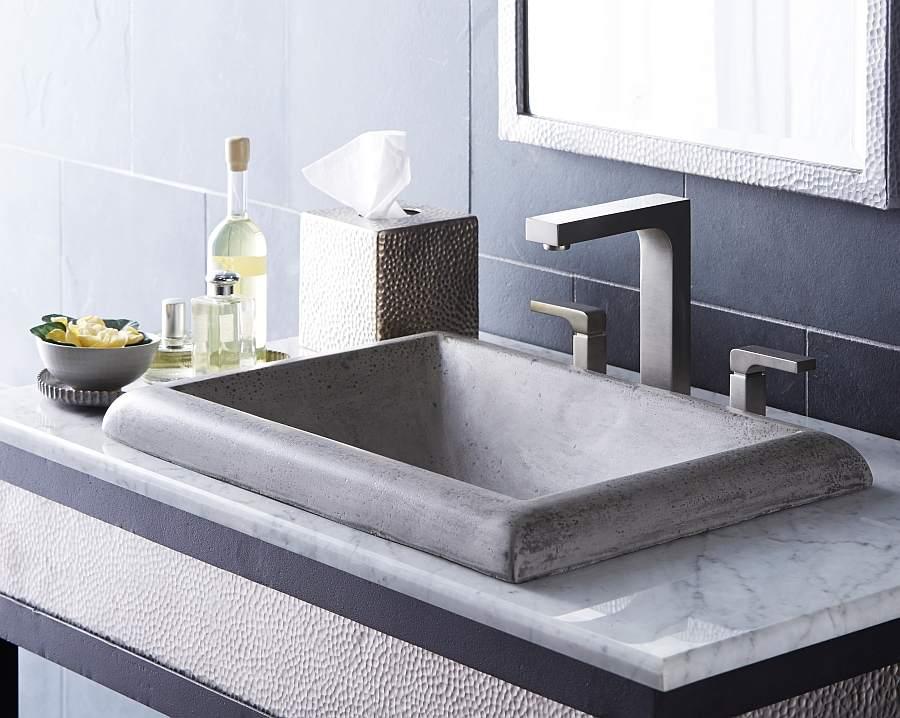 Прямоугольная раковина для ванной