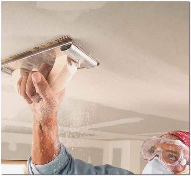 Шлифовка зашпаклеванного потолка