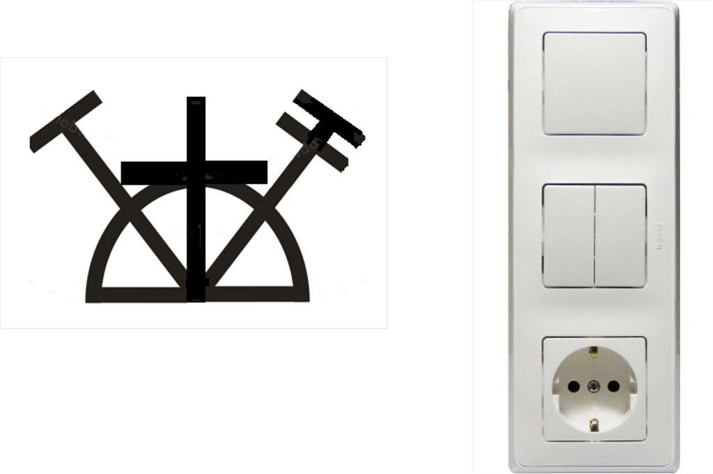 блок розеток и выключателей