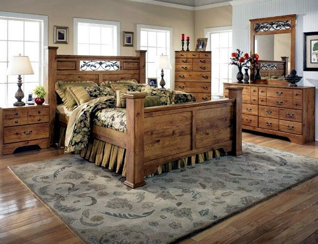 Черты кантри-стиля в спальне