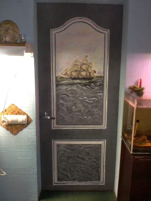 Художественная роспись двери