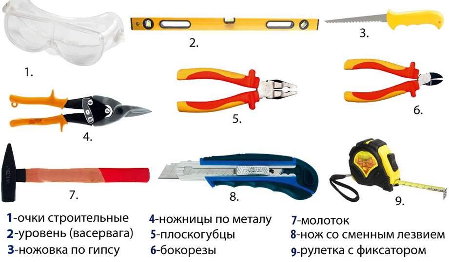 Инструмент для монтажа ГКЛ