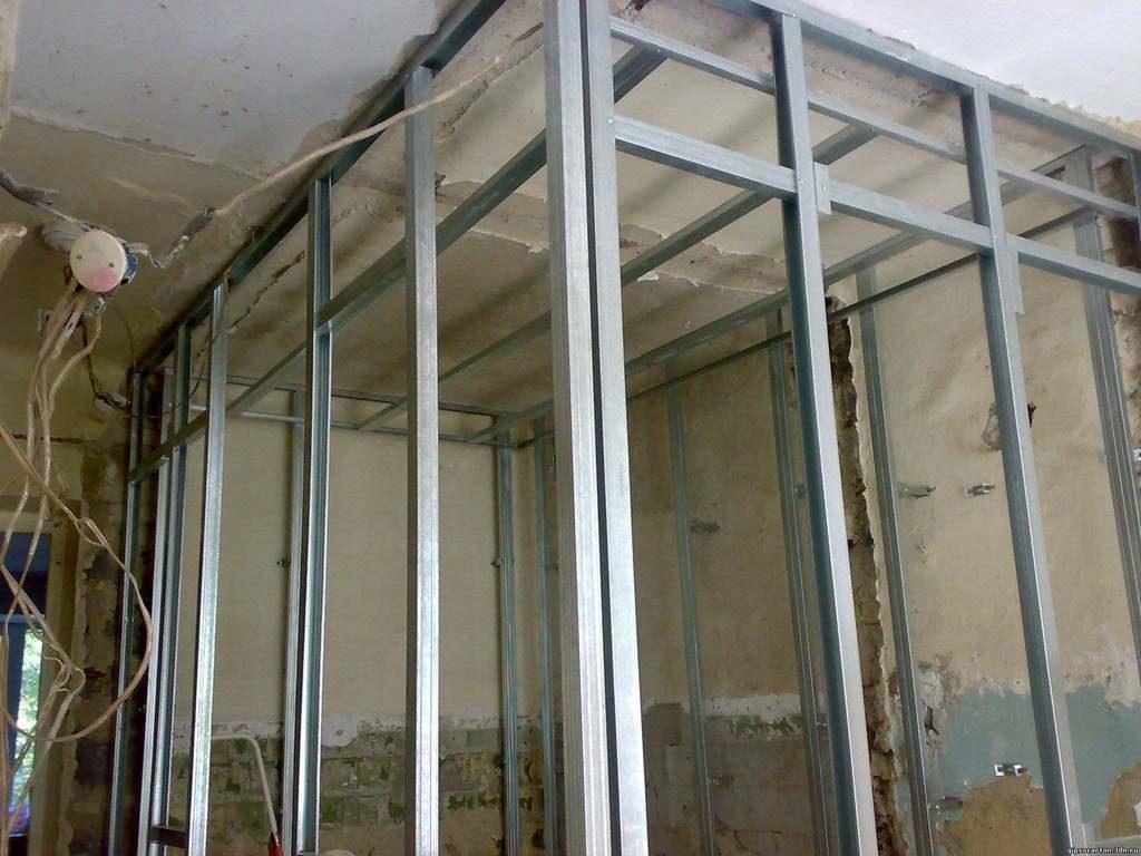 Каркасная конструкция из металлопрофиля