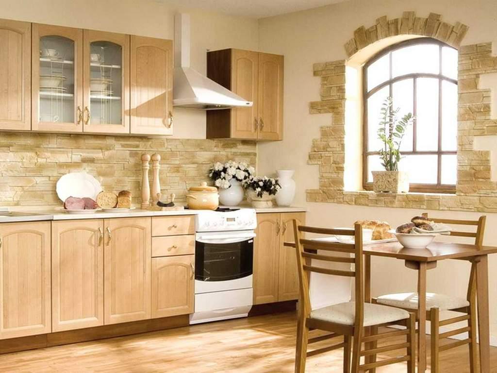 Для кухни в стиле кантри подойдут неяркие природные оттенки