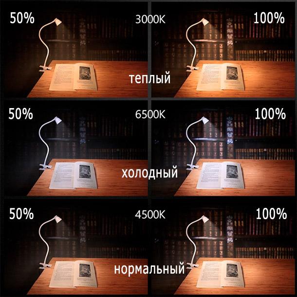 Лампа 3 режима