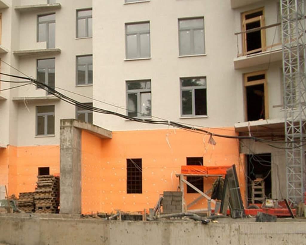 Монтаж пеноплекса снаружи здания
