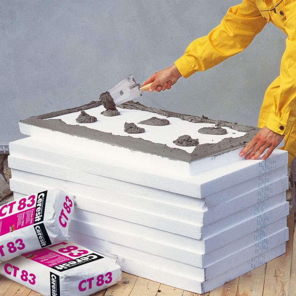 Принцип нанесения цементного клея на пеноплекс такой же, как для пенопласта
