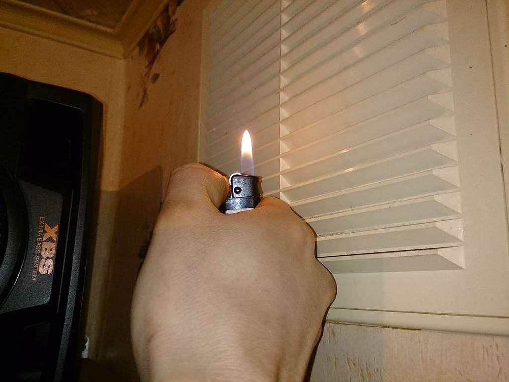 Нежелательный способ проверки вентиляции