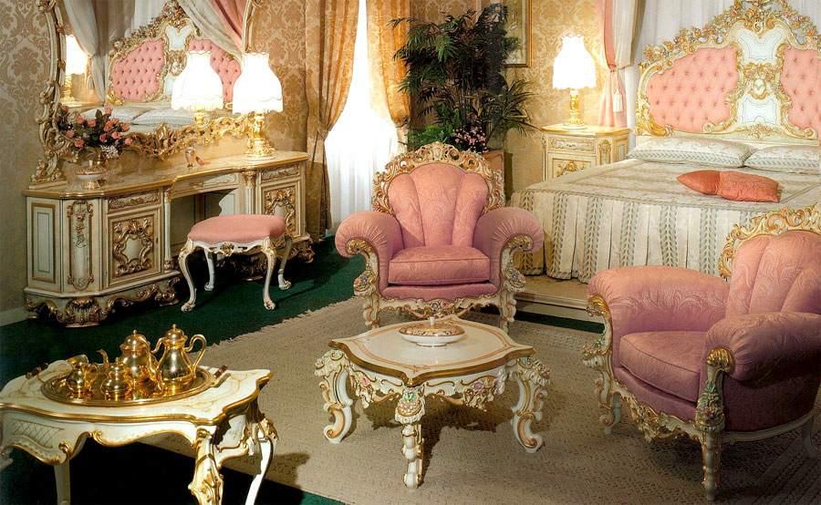Обстановка в стиле рококо