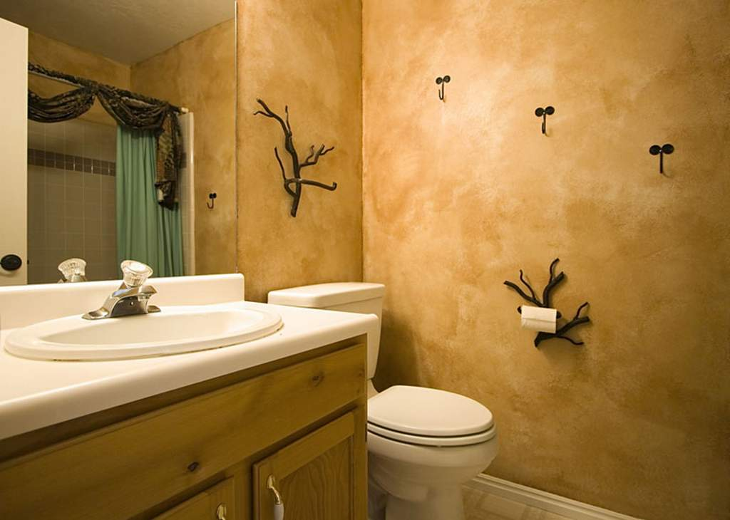 Оформление ванной комнаты штукатуркой