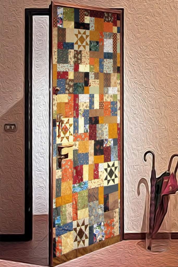 Пэчворк на двери