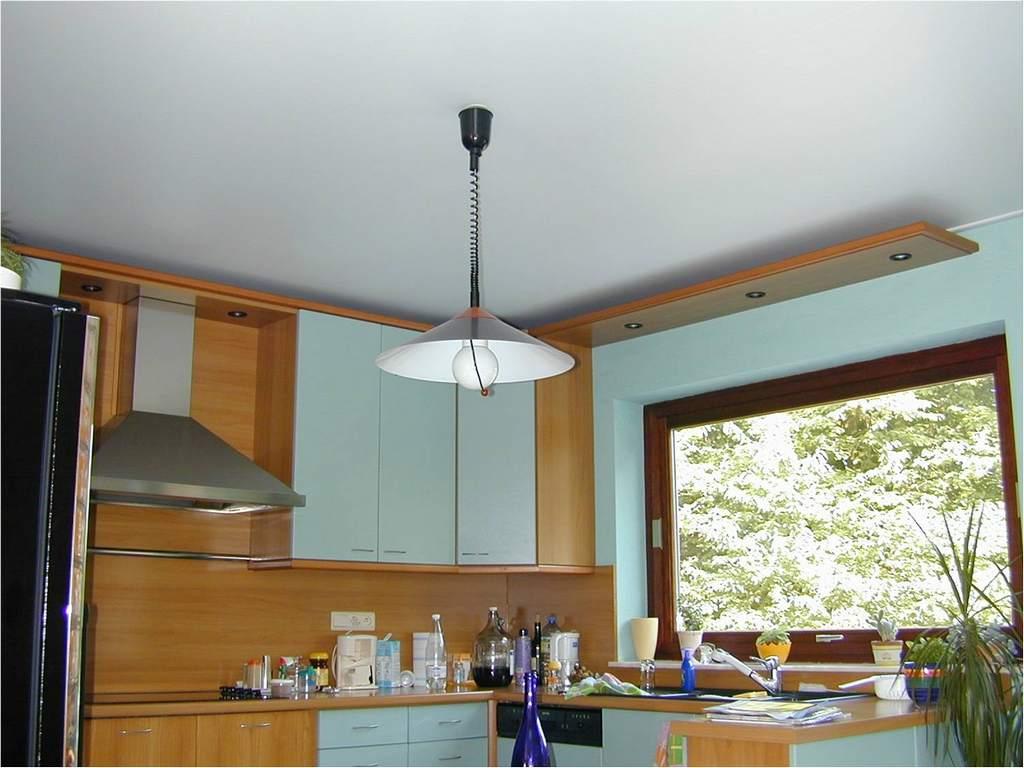 Потолок из ГКЛ на кухне