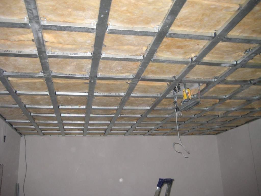 Утепление потолка из гипсокартона