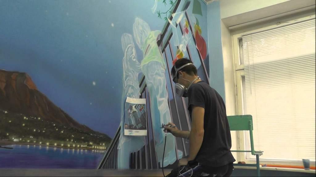 Применение аэрографии в росписи стен