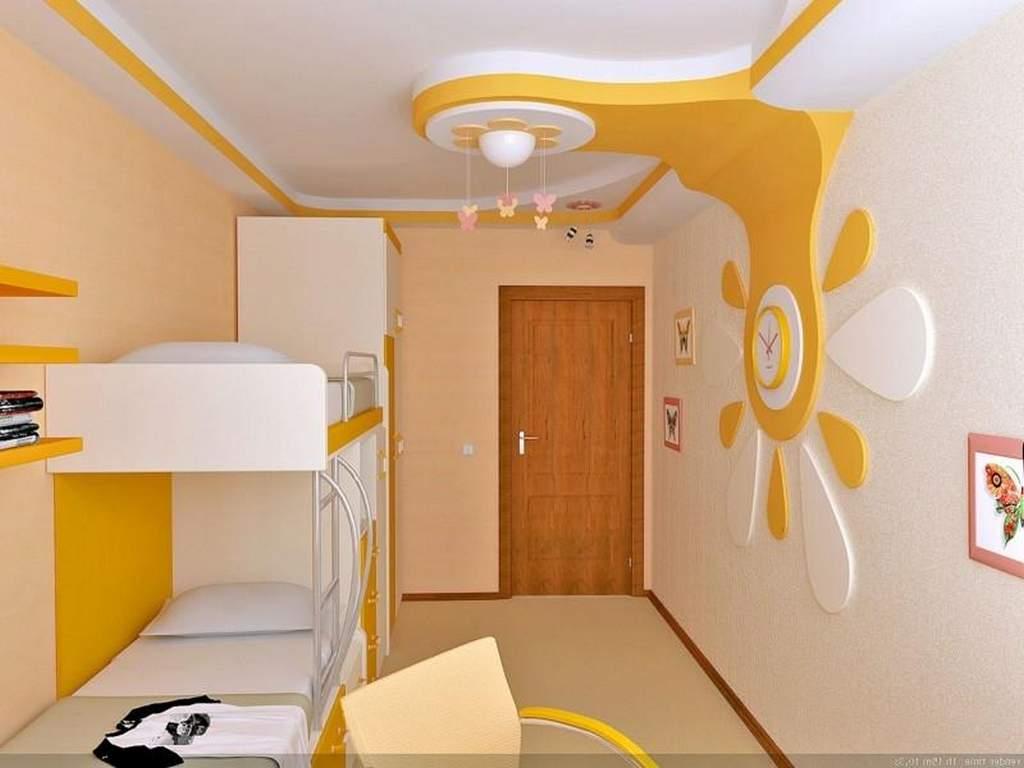 Дизайн потолка из гипсокартона детская спальня