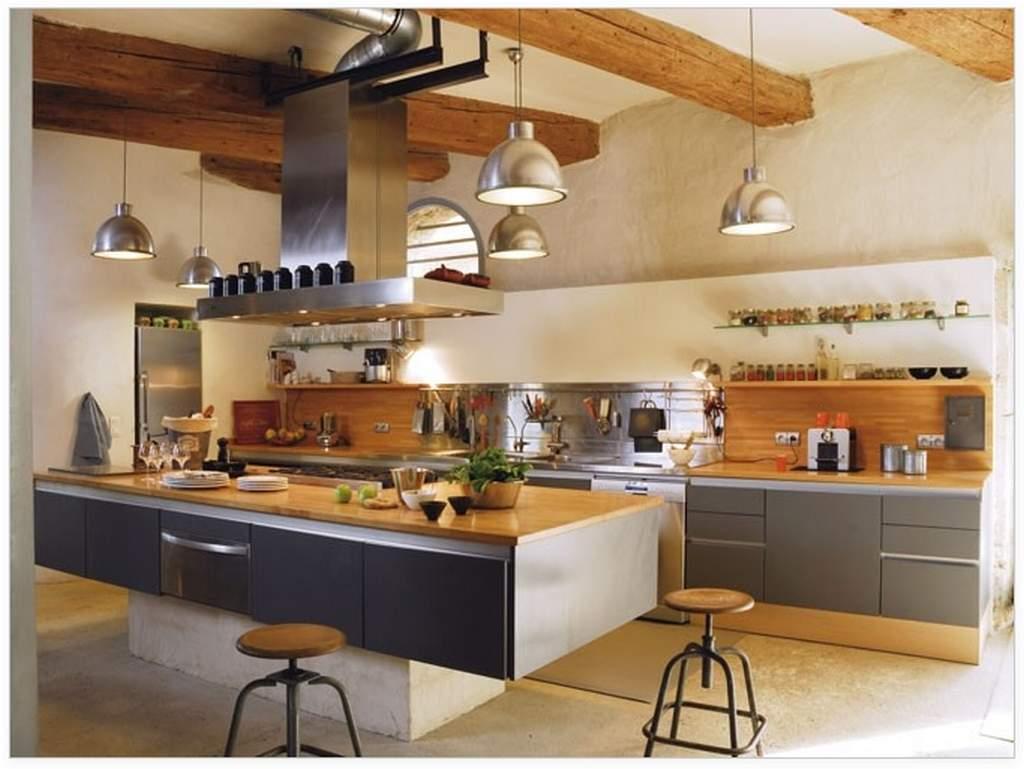 Цвет стен в кухне в стиле лофт